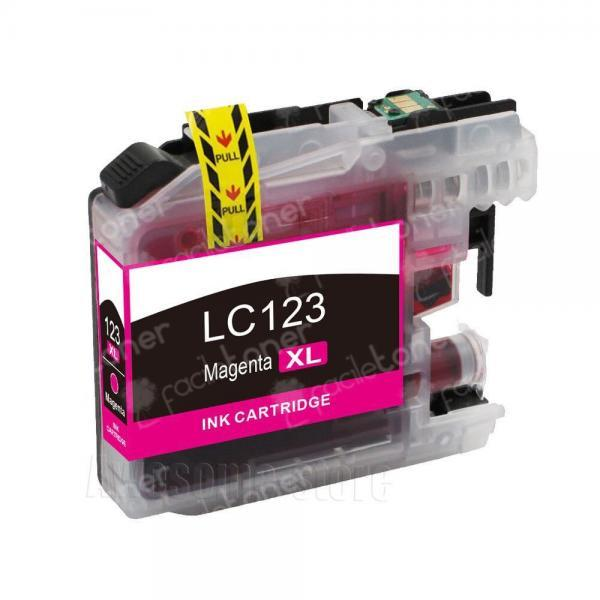 Cartuccia Comp. con BROTHER LC121 LC123 Magenta New-Chip