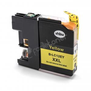 Cartuccia Comp. con BROTHER LC12E Yellow